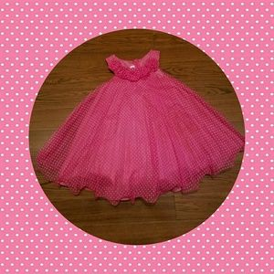 Bonnie Jean Pink Polka Dot Toddler Dress